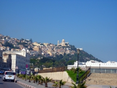 Algiers climbs up the Bouzareah Plateau and is crowned with the Notre Dame D'Afrique