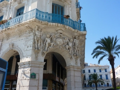 Beautiful building at the corner of Place des Martyrs; Algiers