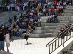 Breakdance competition in downtown Algiers