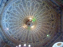 Decorated ceiling of the beautiful Grande Poste; Algiers
