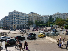 Busy intersection in front of Grande Poste; Algiers