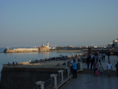 Enjoying the nice breeze, sunset and Mediterranean views along the corniche in Algiers