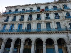 Its amazing that nearly every building in the city of Algiers is white with blue shutters