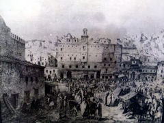 Picture of busy Algiers in the early days