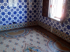 Decorative floor mosaics and wall tiles of Palais Des Rais