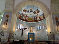 Elaborately painted interior of Notre Dame de Afrique