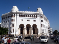The captivating Grande Poste at a busy intersection; Algiers