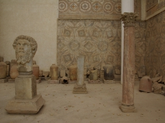 Marble bust of Emperor Septimus Severus; Djemila museum
