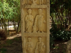 An elaborate gravestone marker; Djemila