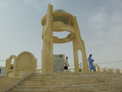 El Oued's monument honoring the Algerian Heroes in the resistance against the French
