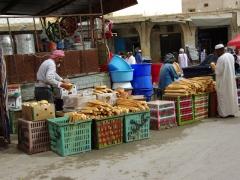 Bread seller; El Oued market