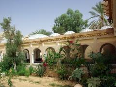 View of Hotel Du Souf's garden; El Oued