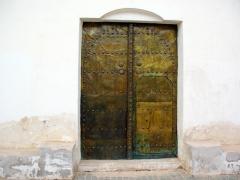 Bronze door of Guemar's zaioua