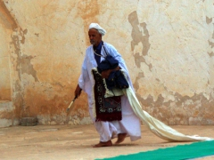 Getting ready for the evening's call to prayer; Guemar zaioua
