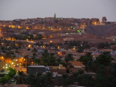 Evening view of pretty M'zab Valley