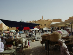 Fantastic sights and sounds await the intrepid traveler at Ghardaia's market square