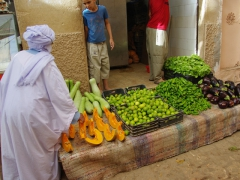 Fruits and vegetables for sale at Ghardaia market