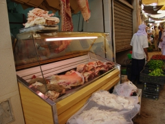 The meat market section of Ghardaia