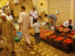 Vegetables for sale; Ghardaia market