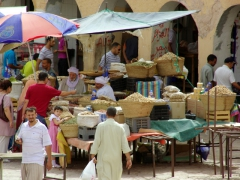Peanut vendors hawking their wares; Ghardaia market