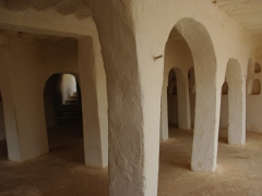 Interior of the 700 year old mosque of Sheikh Sidi Brahim; El Atteuf