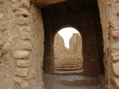 Stairs leading up to the old ksar of El Golea
