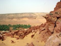 Tindjillet is a ksar commanding an imposing view over the desert