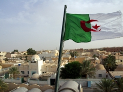The Algerian flag flies proudly above Hotel Du Souf