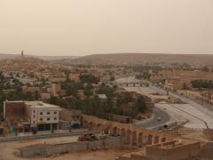 Construction on a bridge to Ghardaia; M'zab Valley