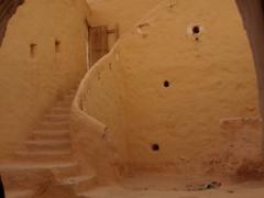 Interior view of a tradtional Mozabite home; Melika