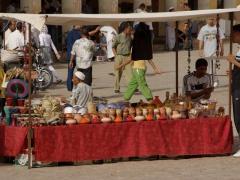 Earthenware for sale; Ghardaia market