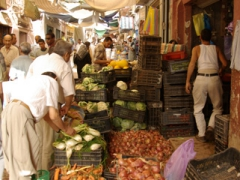 The covered fruit and vegetable market is an extremely photogenic place to wander around in Ghardaia