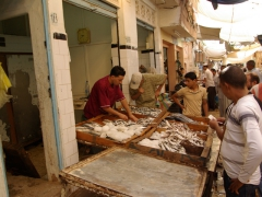 Fish for sale in the seafood section of Ghardaia market