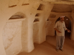 Our Ghardaia guide patiently explains the inner workings of this mud built mosque