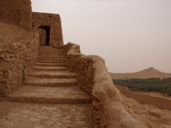 Stairs leading up to El Menia