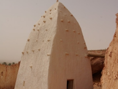 Another view of the marabout of Side Abd Al Rahman; Ksar Ighzer