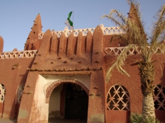 Entrance to Hotel de l'Oasis Rouge (now used to house the Timimoun cultural center)