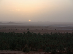 Sunset over the Sebkha; Timimoun