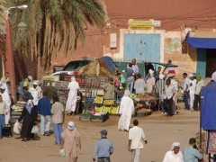 Hustle and bustle of Timimoun market