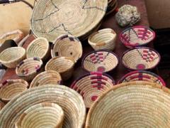 Baskets for sale; Timimoun market
