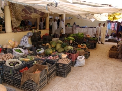 Fruits and vegetables for sale; Timimoun market