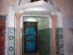 Ornate entrance to one of the buildings in the zaioua complex; Guemar