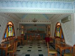 Restaurant decor at Hotel Du Souf; El Oued