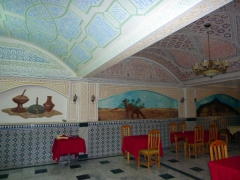Another view of the Hotel Du Souf's restaurant