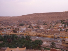View of Ghardaia as seen from Melika at sunset