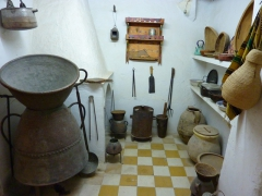 Kitchen utensils in a Mozabite home; Beni Isguen