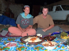 If an Algerian invites you to his or her house for dinner, don't hesitate and say yes! We had our best meal in Algeria at Yousef's house in El Golea