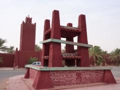 Monument in sleepy Timimoun