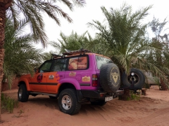 Vehicle from the Spanish 4x4 expedition contingent; Camping Roses de Sable