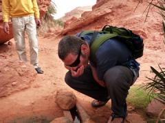 Robby gulping fresh water; Tindjillet